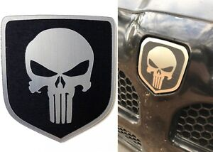 Black Punisher Front Grill Emblem For 1994 2001 Dodge Ram New Free Shipping Usa