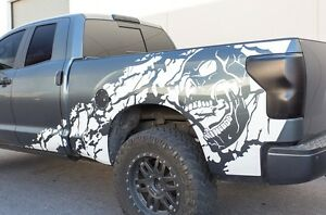 Vinyl Decal Nightmare Wrap Kit For Toyota Tundra Trd 2007 13 Truck Dbl Cab White