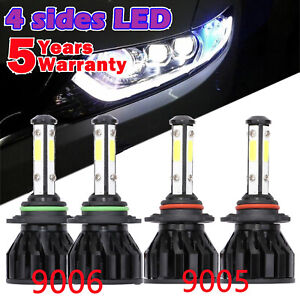 Cree 9005 9006 Led Lamp 96000lm Combo Car Headlights Kit Hi Low Beam Bright Bulb