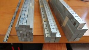 55 12 Pieces Of Steel Square Bar Stock Size 1 8 5 16 9 16