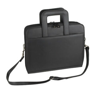 Nufazes Retractable Handle With Zippered File Divider Briefcase Portfolio