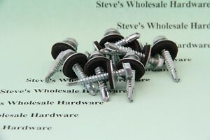 10 X 1 1 4 Hex Self Drilling Sealing Bonded Washer Tek Screw Roofing Siding