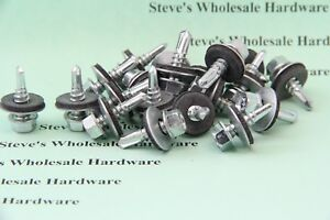 12 X 3 4 Hex Self Drilling Sealing Bonded Washer Tek Screw Roofing Siding