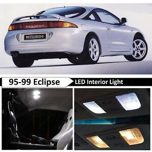 1995 1999 Mitsubishi Eclipse White Interior Led Lights Package Kit