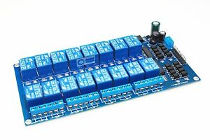 Smakn Dc 12v 16 channel Relay Module Dashboard Optocoupler Protection With
