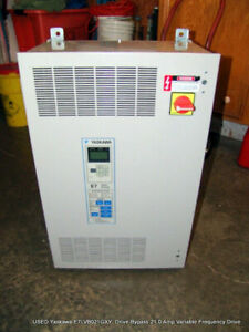 Used Yaskawa E7lvb021gxy Drive Bypass 21 0 Amp Variable Frequency Drive