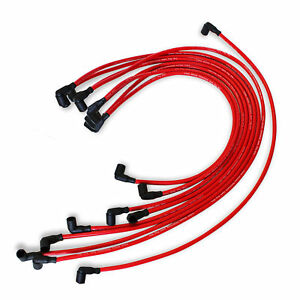 9 5 Mm Red Spark Plug Wires Distributor For Chevy Bbc Sbc 302 350 383 454