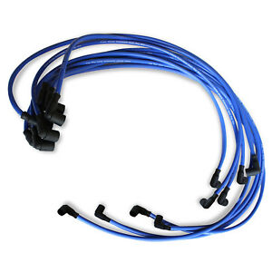 9 5 Mm Blue Spark Plug Wires Distributor For Chevy Bbc Sbc 302 350 383 454