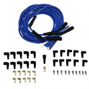 9 5 Mm Blue Straight Boot Spark Plug Wires Distributor For Chevy Sbc Bbc 302 350