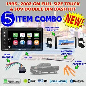 1995 2002 Gm Full Size Truck Suv Double Din Car Stereo Installation Dash Kit Z