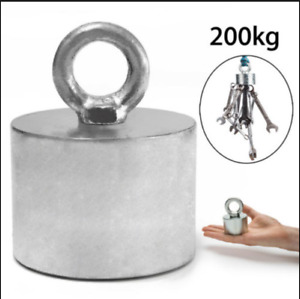 200kg 55x40mm Neodymium Recovery Magnet Metal Detector Treasure Fishing Hunting