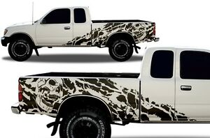 Vinyl Decal Wrap Kit Fits 95 04 Toyota Tacoma Extended Cab Truck Nightmare Black