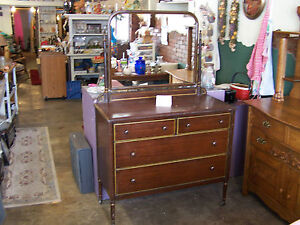 Antique Rare 1930 S Metal Dresser With Mirror Made By Simmons Furniture