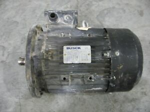 Busck 4kw 5hp 3 Phase Electric Motor From A Husqvarna Floor Grinder Ms112m 4