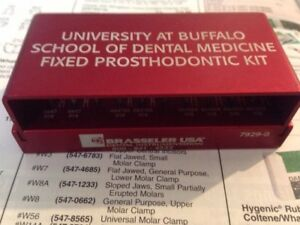 University Of Buffalo Brasseler Fixed Prosthodontic Bur Kit Diamonds Crown Preps