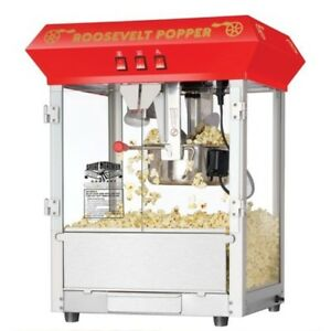 Great Northern Countertop 8oz Antique Style Popcorn Popper Machine Rooseve Red