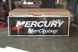 Mercury Mercrusier 2x6 Double Sided Illuminated Lighted Exterior Box Sign