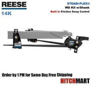 14k Reese Steadi Flex Weight Distribution Trailer Hitch W Sway Control 66561