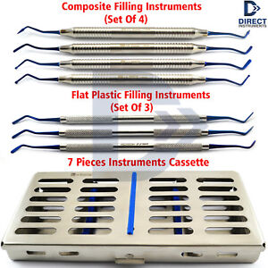 Dental Restorative Composite Plastic Filling Instrument Kit Posterior Cassette