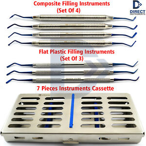 7pcs Composite Filling Instruments Restoration Placement Contouring Cassette