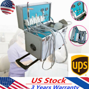 Portable Pro Dental Delivery Unit Rolling Case slow Suction ultrasonic Scaler Us