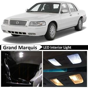 2003 2011 Grand Marquis White Interior License Plate Led Lights Package Kit