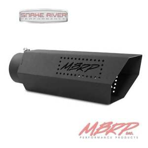 Mbrp Black Hex Diesel Exhaust Tip 4 Inlet 5 Outlet 16 Length Black Logo