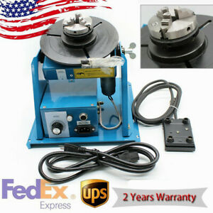 110v Rotary Welding Positioner Turntable Table Mini Jaw Lathe Chuck 2 10 R min