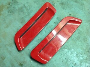 93 97 1997 97 Camaro Hood Louvers Vents Inserts Lh Rh Pair Scoops Red Free Ship