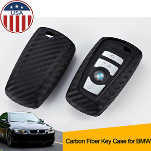 Soft Carbon Fiber Texture Silicone Case Cover Key Shell For Bmw 3 4 5 6 7 Series