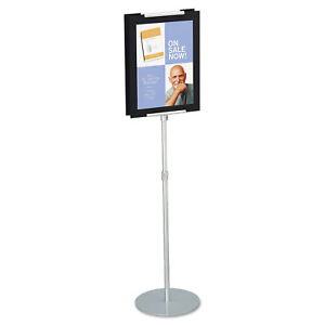 Quartet Adjustable Sign Stand Metal Stands 44 73 High Silver 7923