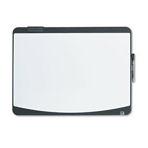 Quartet Tack Write Board 23 1 2 X 17 1 2 Black white Surface Black Frame