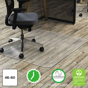 Deflecto Clear Polycarbonate All Day Use Chair Mat For Hard Floor 46 X 60