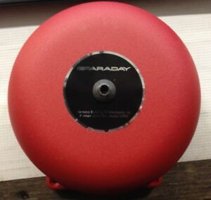 New Faraday Red Fire Alarm Bell 6 21 30 Vdc