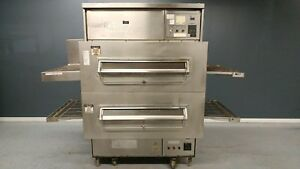 Great Condition Middleby Marshall Ps360 Double Stack Gas Conveyor Pizza Ovens