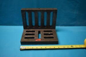 Used Slotted Webbed Angle Plate 9 X 7 X 6