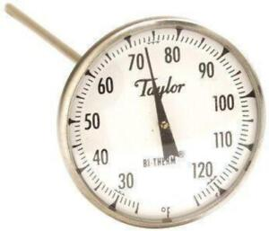 T 6212 2 Dial Stem Thermometer With Clamp