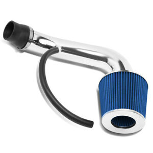 Fit 2001 2005 Honda Civic Ex Engine Short Ram Air Intake System Blue Cone Filter