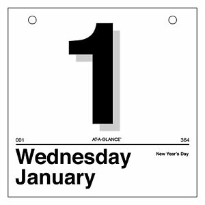At a glance K150 today Is Daily Wall Calendar Refill 6 X 6 White 2016