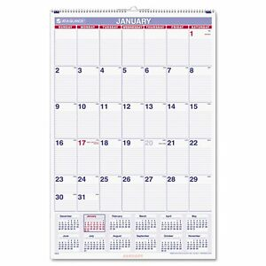 Aagpm428 At a glance Recycled Monthly Wall Calendar