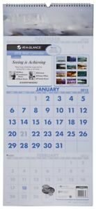 At a glance Visual Organizer Recycled Scenic Three month Wall Calendar Large