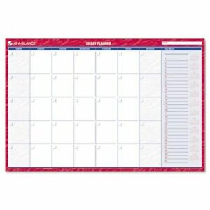 At a glance Recycled Horizontal Erasable Wall Planner Large Wall Red 2013