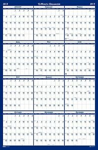 House Of Doolittle Laminated Write on wipe off Wall Planner January 2013 To 2013