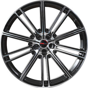 4 Gwg Wheels 17 Inch Black Machined Flow Rims Fits Ford Focus Sedan 2012 2018