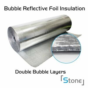 Insulation Roll Bubble Foil Reflective Double Radiant House Building 40 x 720