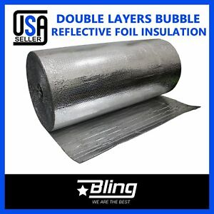 Double Bubble Foil Heat Insulation Reflective Radiant Barrier 1800 x40 500sqft