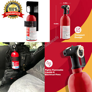 Large Fire Extinguisher Gasoline Oil Grease Electrical Fires Car Vehicle Garage