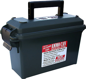 Ammo Can Field Box 30-Caliber Ammunition Case Military Style Plastic Can