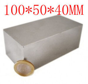 Strong Neodymium Block 100x50x40mm N52 100 X 50 X 40 Rare Earth Permanent Magnet