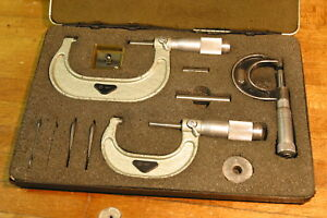 Starrett Brown Sharpe Mitutoyo Micrometers With Standards And Tools
